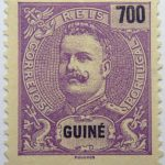 portuguese guinea 1898 1901 king carlos i stamp violet black 700 guine reis correios portugal