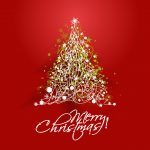 2017 merry christmas red background 2560x1440