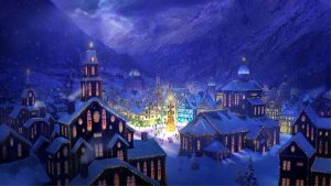 beautiful christmas village 7041
