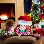 christmas 3840x2160 presents kids santa hat decoration 4k 3623