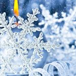 christmas decoration 2560x1440 snowfall candle light 5k 3980