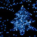 christmas tree 3000x1996 blue stars dark background 3970