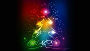 christmas tree 3840x2160 abstract colorful 4k 3968