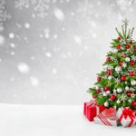 christmas tree 3840x2160 decoration presents gifts snowfall 5k 3963