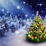 christmas tree 3840x2160 spruce trees decoration snowfall 5k 3960
