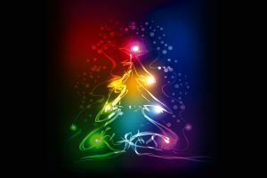 christmas tree 4500x3000 abstract colorful 4k 3968