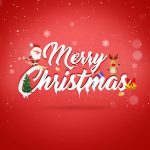 happy festive christmas red background snowflake santa christmas tree 1920x1080