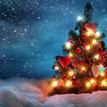 lights night snow holidays winter christmas tree cold 1920x1200