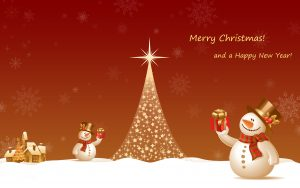merry christmas 2560x1600 happy new year christmas tree snowman 3978
