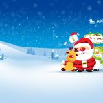 merry christmas 2560x1600 santa claus snowman hd 3806