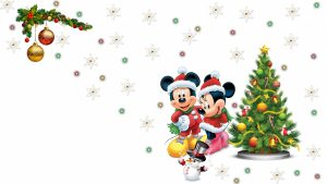 mickey mouse mickey snowflake minnie pretty lights snowman christmas tree 1920x1080