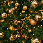 new year christmas tree balls stars 10832