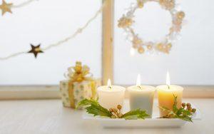 new year holiday candles gift box tape ribbon christmas 10840