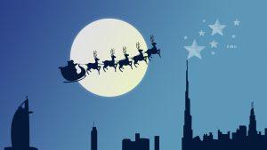 reindeer chariot 5120x2880 santa claus christmas eve moon 8k 599