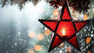 snowfall 3840x2160 christmas lantern winter bokeh 5k 3997