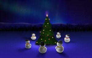 snowman 2560x1600 christmas eve christmas tree 3986