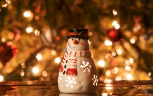 snowman candle christmas tree 16675
