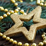 star gold beads decorations christmas new year 5671