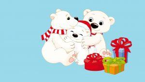 teddy bear christmas family christmas present 1920x1080